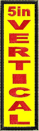 5in x 1.5in Vertical - Horizontal Patch - PT