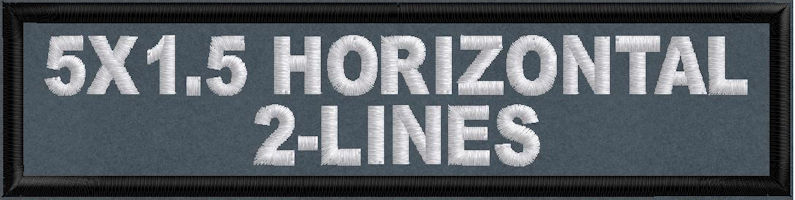 5in x 1.5in 2-Line Horizontal Patch - Polytwill