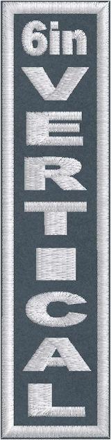 6in x 1.5in Vertical - Horizontal Patch - PT