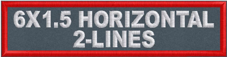 6in x 1.5in 2-Line Horizontal Patch - Polytwill