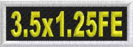 3.5x1.25 Full Embroidered Name Patch