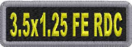 3.5x1.25 Round Corner Full Embroidered Name Patch