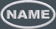 3.5x1.85 Polytwill Oval Name Patch