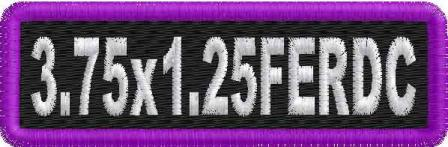 3.75in x 1.25in Name Patch Round Corners - FE