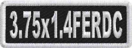 3.75in x 1.4in Name Patch Round Corners - FE
