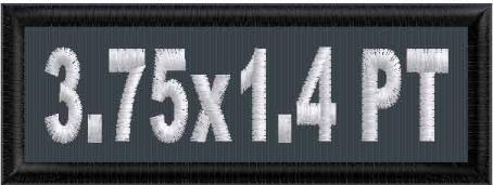 3.75in x 1.4in Name Patch - PT