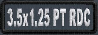 3.5in x 1in PolyTwill Round Corner Name Patch