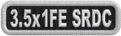 3.5in x 1in Name Patch SRDC 1Line - FE