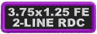 3.75 x 1.25 Full Embroidered 2 Line Round Corners