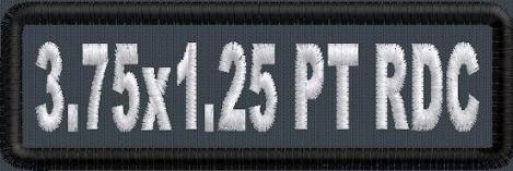 3.75in x 1.25in Name Patch RD Corner - PT