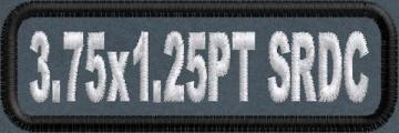 3.75in x 1.25 Name Patch Standard Round Corners - PT