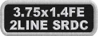 3.75x1.4 Name Patch Full Embroidered 2 Lines Standard Round Corners