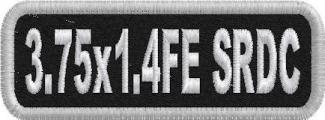 3.75in x 1.4in Name Patch Standard Round Corners - FE