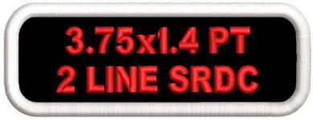3.75x1.4 Name Patch Polytwill 2 Lines Standard Round Corners