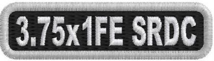 3.75in x 1in Name Patch Standard Round Corners - FE 1-Line
