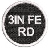 3in Round Full Embroidered Patch