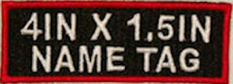 4x1.5 Name patch with 2 Lines