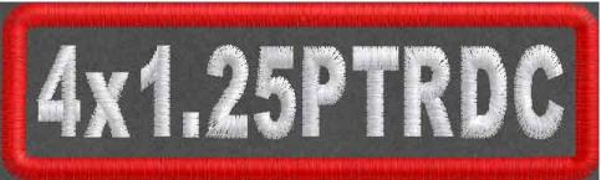 4in x 1.25in Polytwill Round Corner Patch