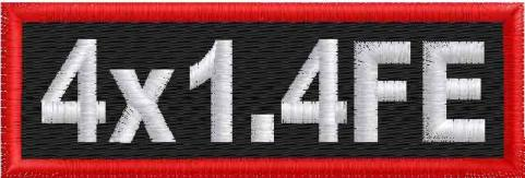 4in x 1.4in Name Patches - FE