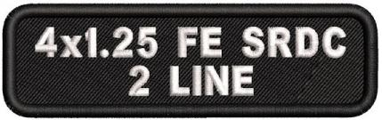 Custom 4in. x 1.25 Name Patches 2 Line Full Embroidered Standard Round Corners