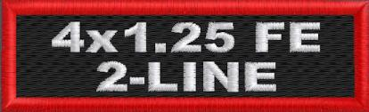 Custom 4in. x 1.25 Name Patches 2 Line Full Embroidered