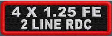 Custom 4in. x 1.25 Name Patches 2 Line Full Embroidered Round Corners