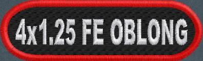Custom 4in. x 1.25 Name Patch Oblong Full Embroidered