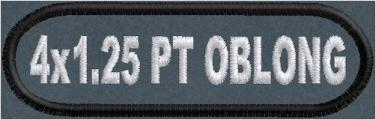 4in x 1.25in Oblong Name Patch Polytwill
