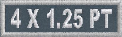 4in x 1.25in Polytwill Name Patch