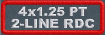 4in x 1.25in Polytwill Name Patch 2-Line RD Corner