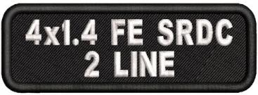 4in. x 1.4in Name Patch 2 Line Full Embroidered Standard Round Corners
