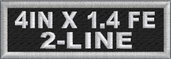 Custom 4in. x 1.4in Name Patches 2 Line Full Embroidered