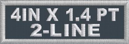 4in x 1.4in 2-Line Polytwill Name Patch