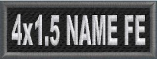 4x1.5 Name patch 1-Line FE