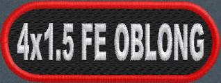 4in x 1.5in Oblong Name Patch - FE
