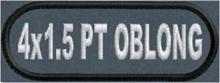 4in x 1.5 Oblong Name Patch - Polytwill