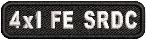 4in x 1in Name Patch Full Embroidered Standard Round Corners