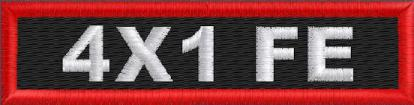 Custom 4in. x 1 Name Patch Full Embroidered