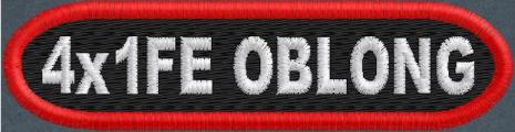 Custom 4in. x 1 Oblong Name Patch Full Embroidered