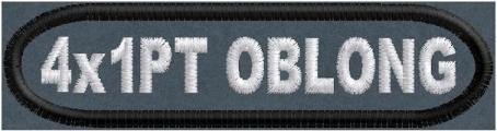 4in x 1in Oblong Name Patch Polytwill