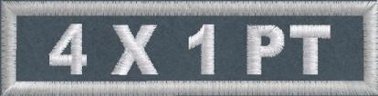 4in x 1in Polytwill Name Patch