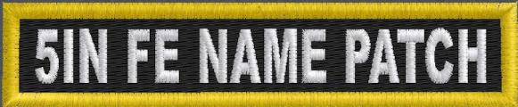5in x 1in Name Patch - FE
