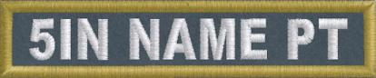 5in. x 1in. Name Patch - PolyTwill