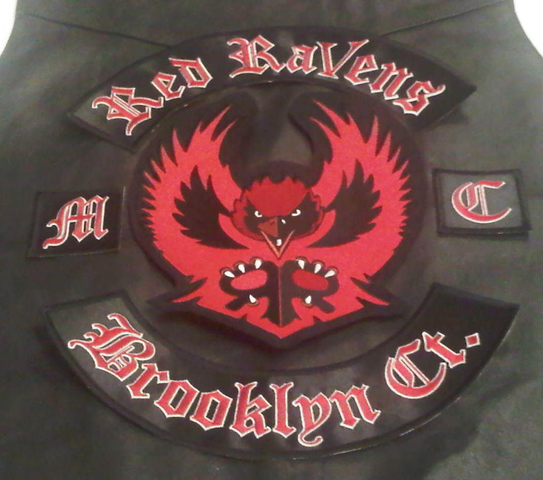 Red Raven Back Patch Set