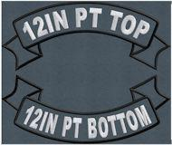 12in PT Top and Bottom Ribbon Rocker Set