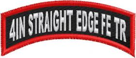 4in Straight Edge Top Rocker Full Embroidered