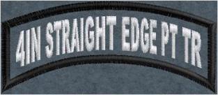 4in Straight Edge Top Rocker PolyTwill
