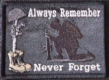 Always Remember Never Forget Soldiers Cross Patch