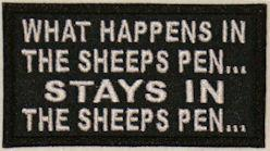 What Happens in the Sheep Pen Stays in the Sheep Pen Patch