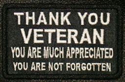 Thank You Veteran Patch